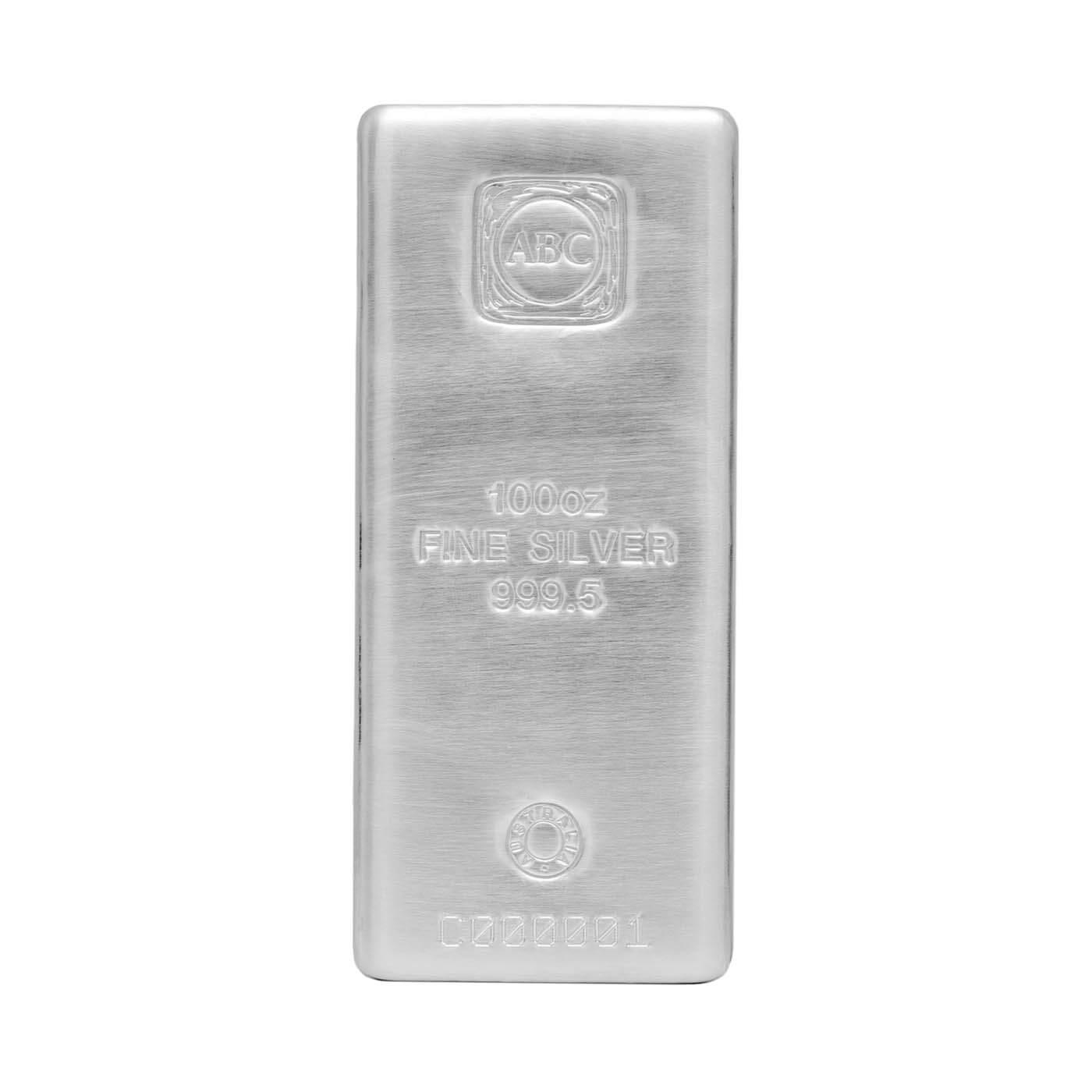 Buy 100oz Cast Silver Bullion Bar 999 Purity
