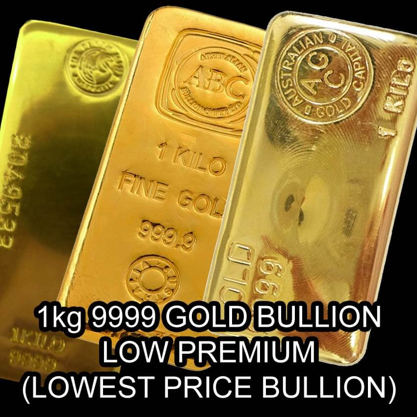 Buy 1kg 1000g Lowest Cost Gold Bullion Bar 9999 Purity